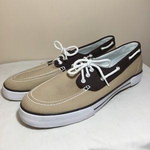 Men's Polo by Ralph Lauren khaki deck boat shoes